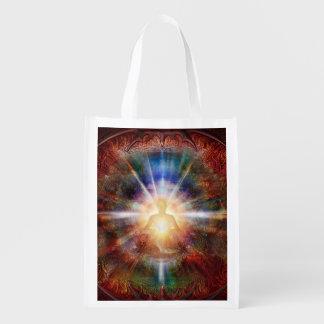 H047 Batleth Meditator 9 Reusable Grocery Bag