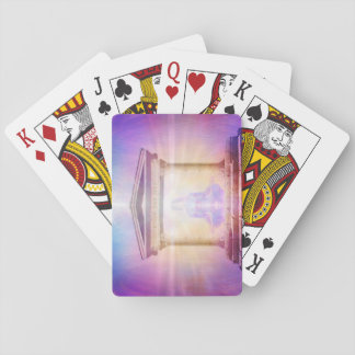 H049 Know Thy Self Magenta Playing Cards