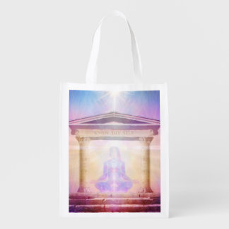 H049 Know Thy Self Magenta Reusable Grocery Bag