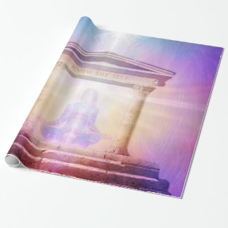 H049 Know Thy Self Magenta Wrapping Paper
