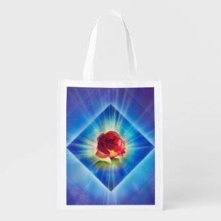 H053 Forgiveness Day Rose Reusable Grocery Bag