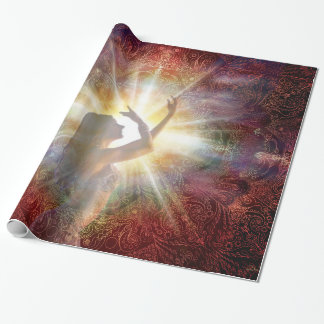 H058 Jacqui Red Horizon Wrapping Paper