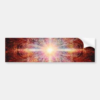 H069 Mandala Deep Orange 2 Bumper Sticker