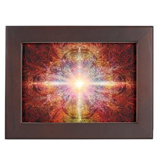 H069 Mandala Deep Orange 2 Keepsake Box
