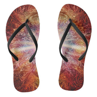 H069 Mandala Deep Orange 2 Thongs