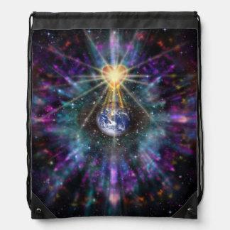 H077 One Earth One Heart 2017 Drawstring Bag