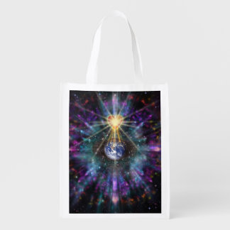 H077 One Earth One Heart 2017 Reusable Grocery Bag