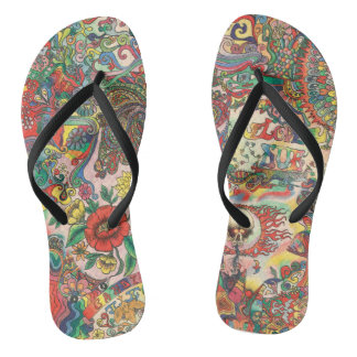 H081 Psychedelic 1969 Thongs