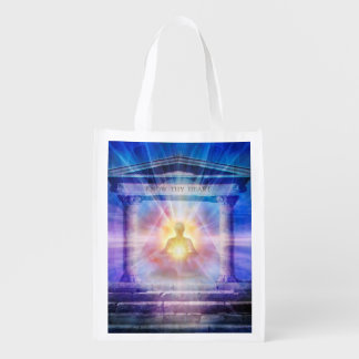 H110 Know Thy Heart Temple Night Reusable Grocery Bag