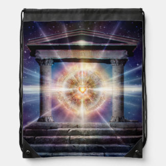 H111 Heart Temple Night Drawstring Bag