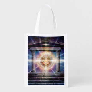 H111 Heart Temple Night Reusable Grocery Bag