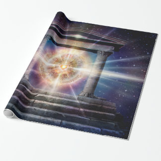 H111 Heart Temple Night Wrapping Paper
