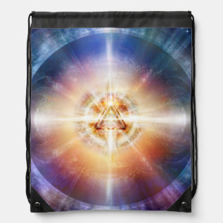 H114 Star Triangle Orb Drawstring Bag