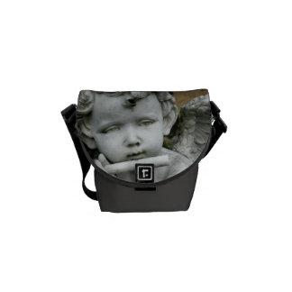 H1 Mini Messenger Bag Cherub w/ Flute steel