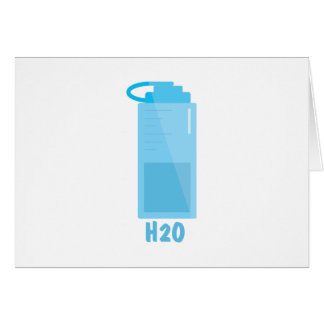 H2O Bottle Card