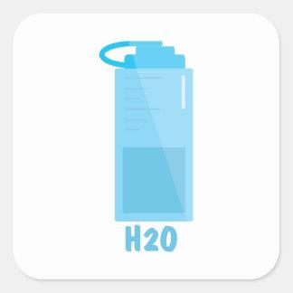 H2O Bottle Square Sticker