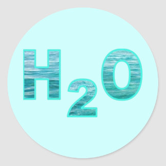 H2O ROUND STICKER
