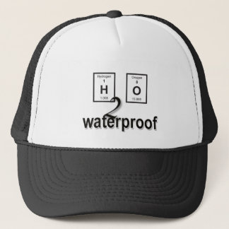 H2O Waterproof Periodical Design Trucker Hat