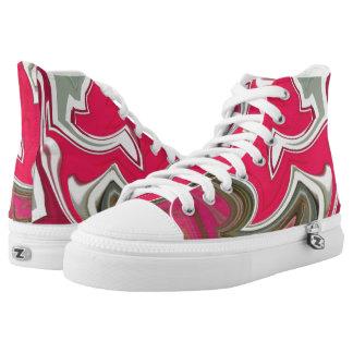 H3 CustomZipz High Top Shoes US Men 4/ US Women 6 Printed Shoes