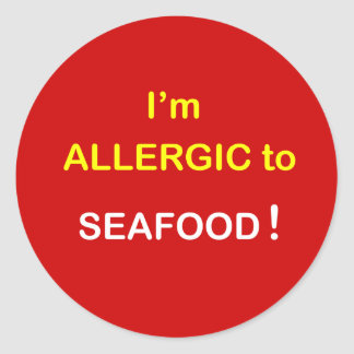 h5 - I'm Allergic - SEAFOOD. Round Sticker
