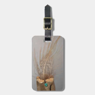 H.A.S. Arts luggage tag; image cholla,gem,feather Luggage Tag
