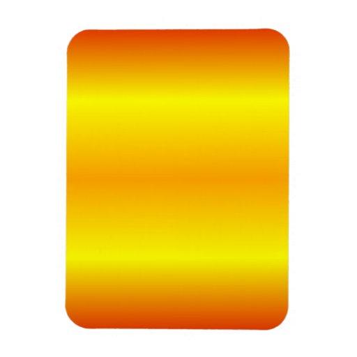 H Bi-Linear Gradient - Red, Yellow, Orange Rectangular Magnet