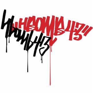 H-Bomb Graffiti Standing Photo Sculpture