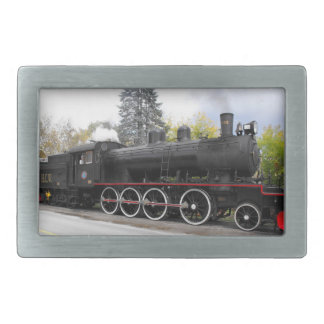 H.C.W. Train Rectangular Belt Buckle