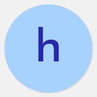 h classic round sticker