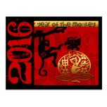 H Custom 2016 Year of The Monkey Chinese New Year Postcard