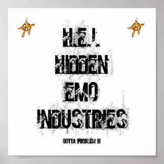 H.E.I.HIDDEN EMO INDUSTRIES POSTER