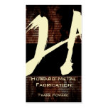 H Flame Monogram Business Card