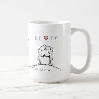 """""""H.G heart C.G """" Basic White Mug"""