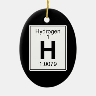H - Hydrogen Ceramic Ornament