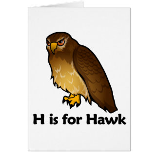 H is for Hawk Card