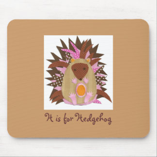H is for Hedgehog Mouse Pad