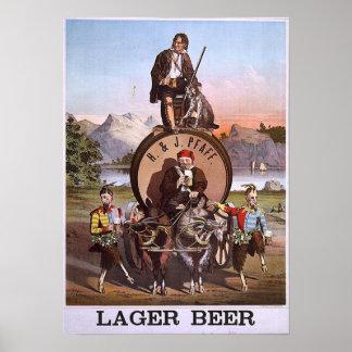 H & J Pfaff Lager beer Poster