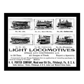H K Porter & Co.Light Locomotives Postcard