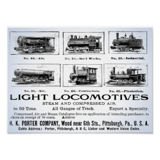 H K Porter & Co.Light Locomotives Poster