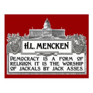 H.L. Mencken on Democracy Postcard