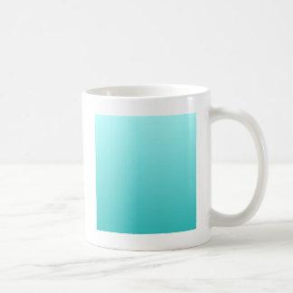 H Linear Gradient - Light Cyan to Turquoise Coffee Mug