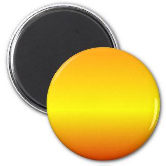 H Linear Gradient - Orange, Yellow, Red 6 Cm Round Magnet