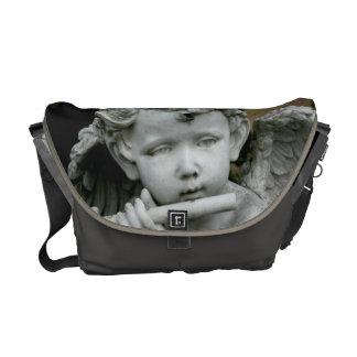 "H Messenger Bag ""Cherub w/  Flute"""