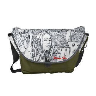 """H Messenger Bag """"Mushroom Ring Fairy"""""""