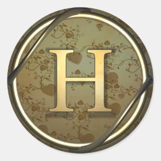 h round sticker