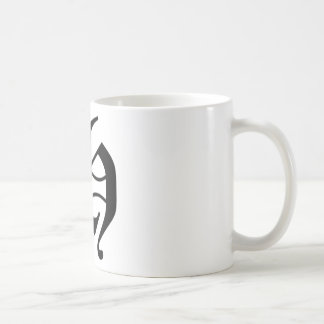 H-text Old English Basic White Mug