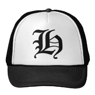 H-text Old English Mesh Hats