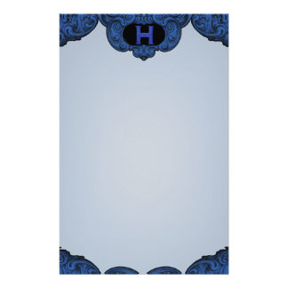 H- The Falck Alphabet (Blue) Personalised Stationery