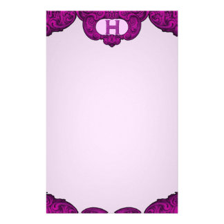 H - The Falck Alphabet (Pink) Personalized Stationery