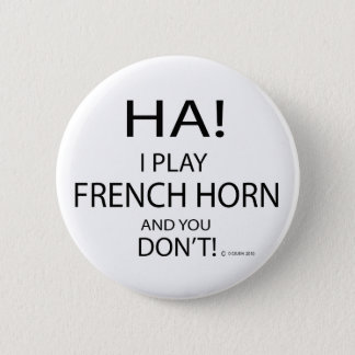 Ha French Horn 6 Cm Round Badge